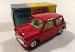 Corgi No.225 Austin Seven Mini - red, lemon interior, spun hubs