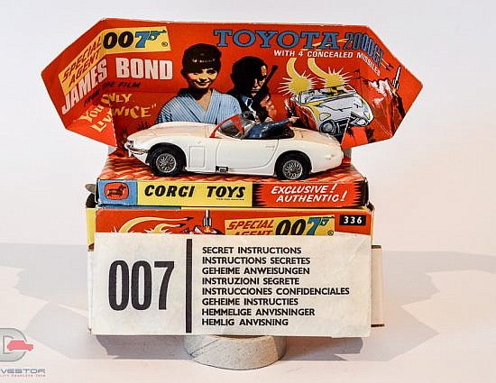 "Corgi No.336 ""James Bond"" Toyota 2000GT taken from the film ""You Only Live Twice"""