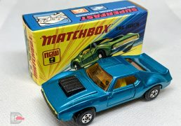 Matchbox Superfast 9B AMX Javelin Metallic Light Blue / LEMON Int / 5 Spoke Whls