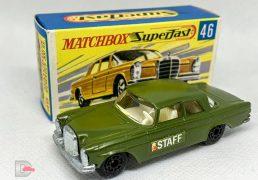 MATCHBOX Superfast 46A Mercedes 300SE Olive / Label / Cast Door