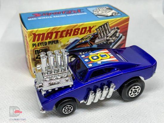MATCHBOX Superfast 48B Pi-Eyed Piper Blue / RARE BLUE Windows / MINT BOX