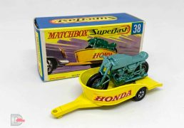 Matchbox Superfast No.38A Honda Motorcycle and Trailer