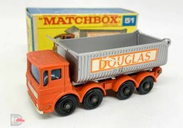 "Matchbox Regular Wheels No.51c AEC Tipper Truck ""Douglas"""