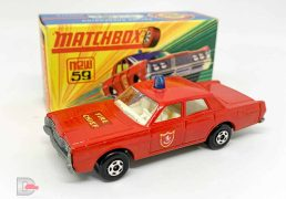 Matchbox Superfast No.59a Ford Galaxie Fire Chief Car