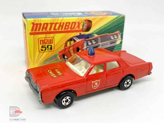 Matchbox Superfast No.59a Ford Galaxie Fire Chief Car