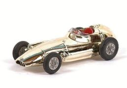"Corgi BRM Formula 1 Racing Car - this gold plated finish with red interior and criss-cross cast hubs is generally Mint, taken from the ""Trophy Models"" Series."